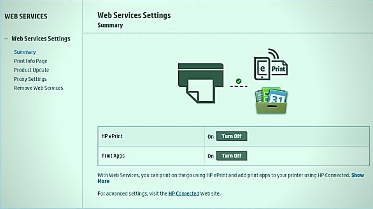 How Do I Disable Web Services On My Hp Printer